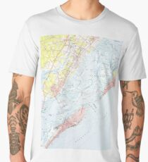 Vintage Map of Ocean City NJ (1952) Men's Premium T-Shirt