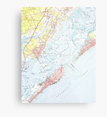 Vintage Map of Ocean City NJ (1952) Metal Print