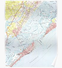 Vintage Map of Ocean City NJ (1952) Poster