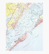 Vintage Map of Ocean City NJ (1952) Photographic Print