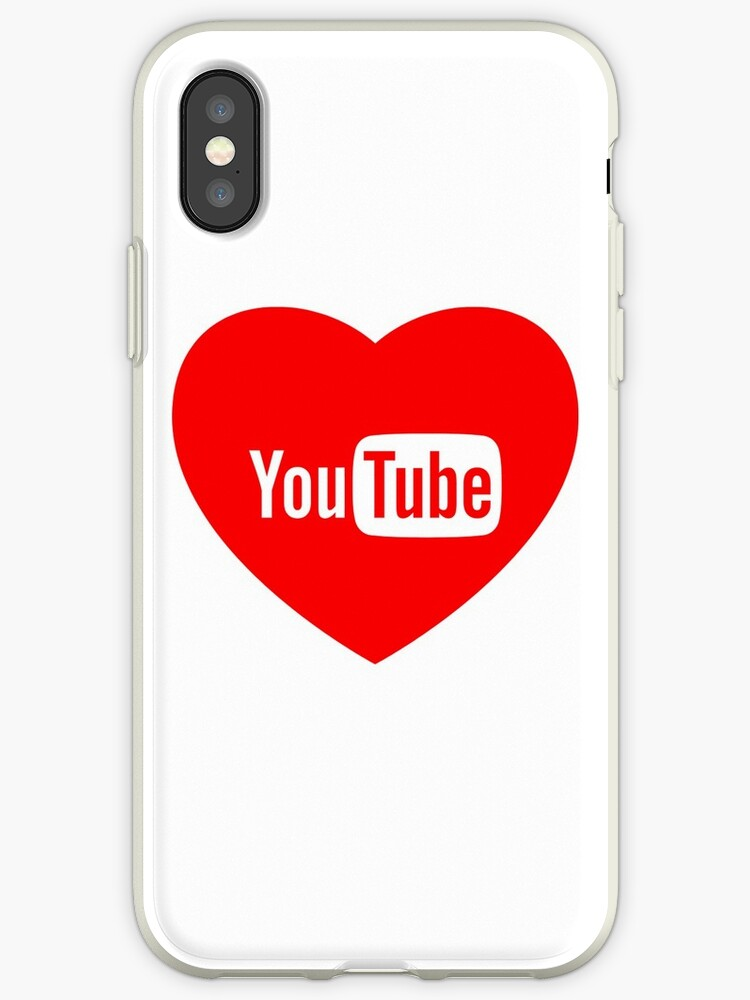 Youtube Logo Love Red Iphone Cases Covers By Igor Luiz Redbubble