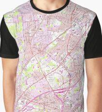 Old Perth Amboy, Rahway & Metuchen NJ Map (1956)  Graphic T-Shirt