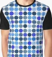 Blue Neuron Dots  Graphic T-Shirt