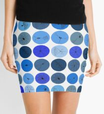 Blue Neuron Dots  Mini Skirt