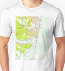 Vintage Map of Point Pleasant NJ (1953)  Unisex T-Shirt