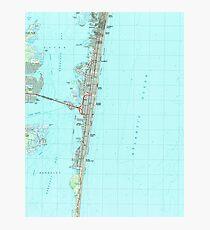 Seaside Park & NJ Shore Map (1989)  Photographic Print