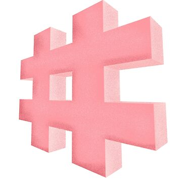 Pink grainy Hashtag by aevy