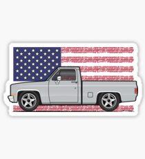81-87 Silver square body Sticker