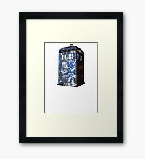 Dr Who Police Box T-Shirt Framed Print