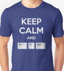 Keep Calm and Ctrl+Alt+Delete T-Shirt
