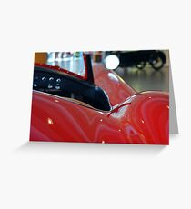 Close up on red sport car Greeting Card