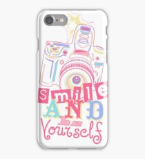 Smile and be Yourself iPhone Case/Skin