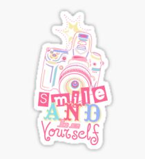 Smile and be Yourself - Pastel Camera Sticker