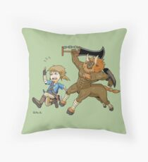 RUN FROM THE WILD Throw Pillow