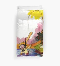 Fishing Time In Space Duvet Cover