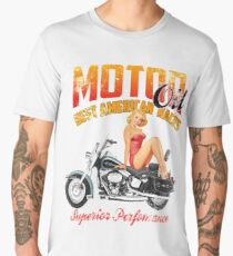 Motor Oil PinUp Men's Premium T-Shirt