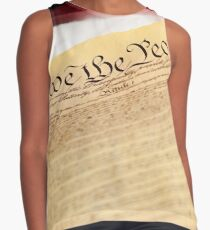 "Constitution: Tight Focus on ""We the People"" Contrast Tank"