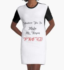 Some Fatherly Advice Graphic T-Shirt Dress
