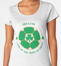 Come On You Boys In Green! Women's Premium T-Shirt