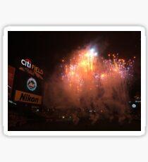 citi field fireworks Sticker
