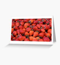 Strawberries background Greeting Card