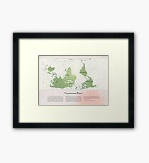Consciousness-Raiser | South-Up Cartography  Framed Print