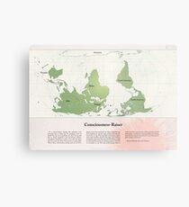 Consciousness-Raiser   South-Up Cartography  Metal Print