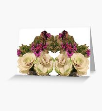 Kale & Orchids Greeting Card
