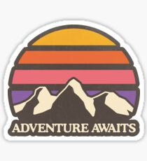 Pegatina Aventura aguarda | Sol de montaña