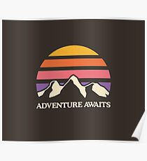 Adventure Awaits | Mountain Sun Poster
