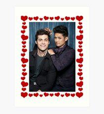 Malec Hearts Photobooth Art Print