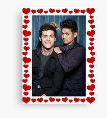 Malec Hearts Photobooth Canvas Print