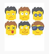 Emoji Lego Toy Photographic Print