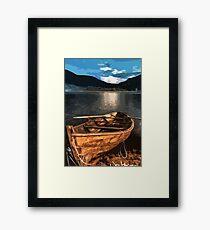 Lonely Boat Framed Print