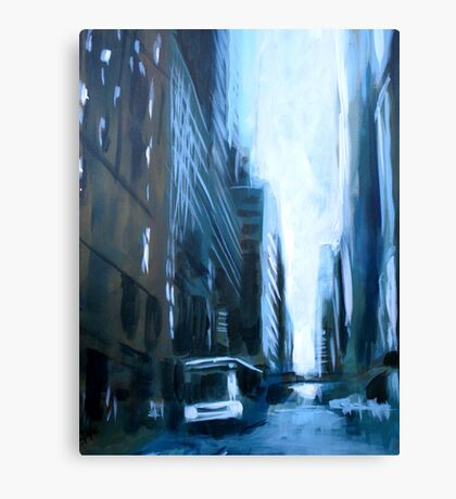 Midtown New York Abstract Realism Canvas Print