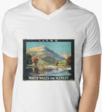 Vintage Travel Poster – North Wales for Scenery T-Shirt