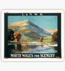 Vintage Travel Poster – North Wales for Scenery Sticker