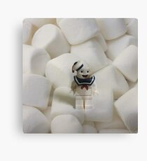 Brickography Pictures - Stay Puft Canvas Print