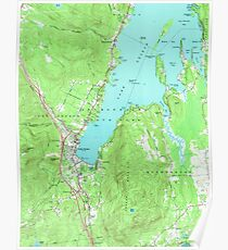 Lake George New York Map.Lake George Posters Redbubble