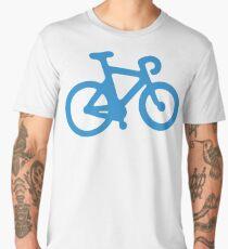 Blue Simple Bike Men's Premium T-Shirt