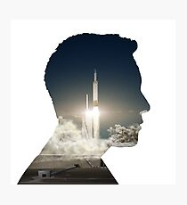 Elon Musk Launch Silhouette Photographic Print