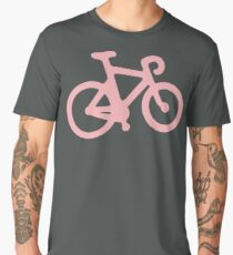 Baby Pink Bike with Stripes Men's Premium T-Shirt