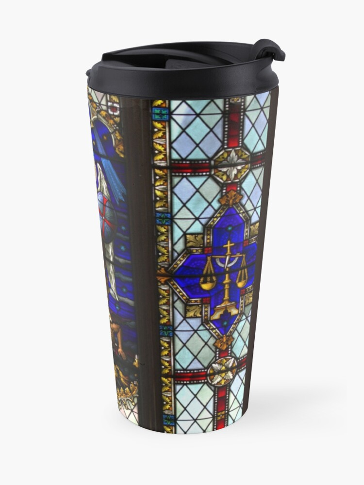 Alternate view of Stained Glass Window purse or pouch Travel Mug