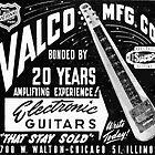 Valco electric guitars vintage ad by NichePrints