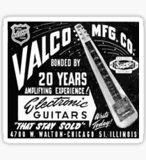 Valco electric guitars vintage ad Sticker