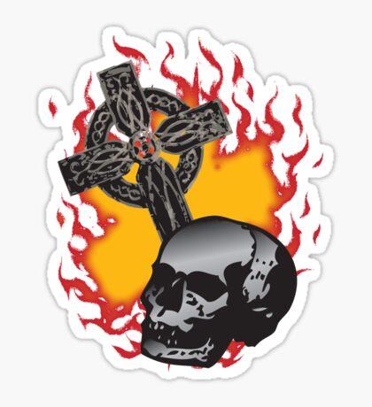 Burn 'em at the Cross Sticker