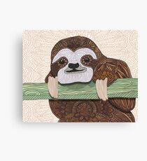 It's a sloth kind of day  Canvas Print