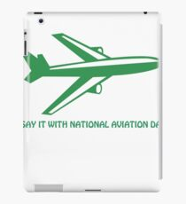 national aviation day iPad Case/Skin