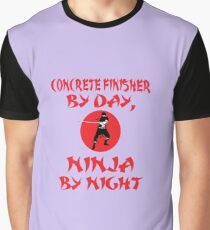 Concrete Finisher Day Ninja Night  Graphic T-Shirt