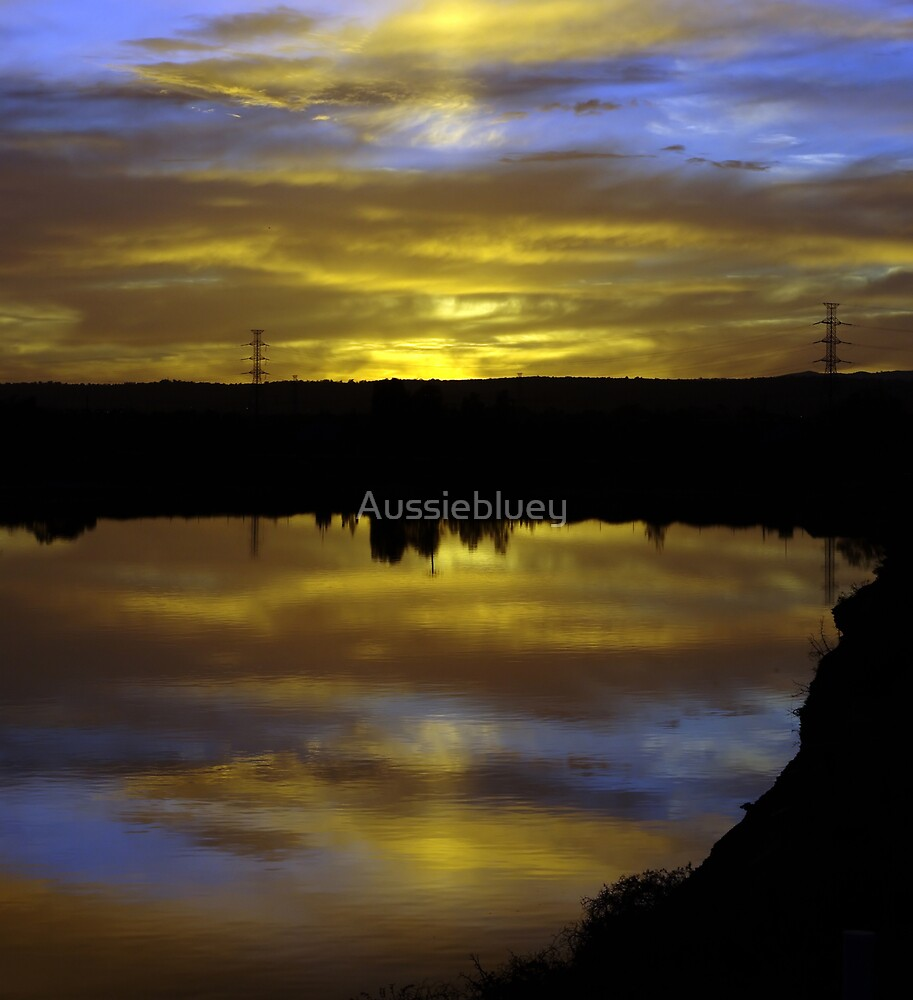 Sunrise reflections by Aussiebluey